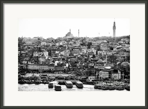 Docked In Istanbul Framed Print By John Rizzuto