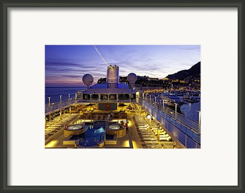 Docked In Monte Carlo Framed Print By Janet Fikar