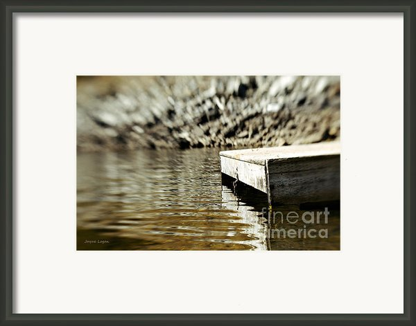 Dockside Shuswap Lake Framed Print By Jayne Logan Intveld