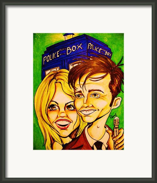 Doctor Who Framed Print By Penny  Elliott