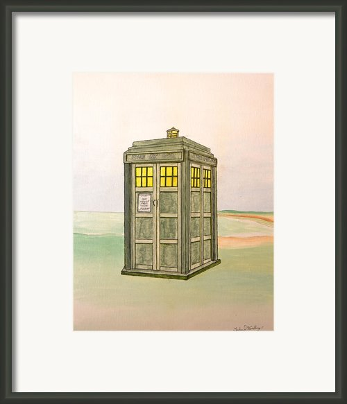 Doctor Who Tardis Framed Print By Gordon Wendling