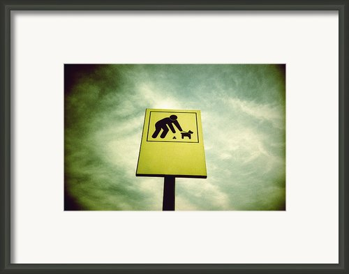 Dog Fouling Sign Framed Print By Kevin Curtis