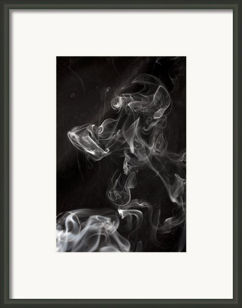 Dog Smoke Framed Print By Garry Gay
