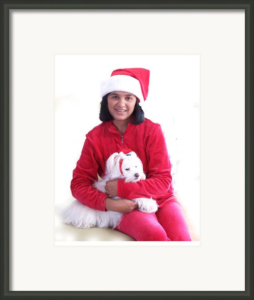 Doggie Christmas Framed Print By Vijay Sharon Govender