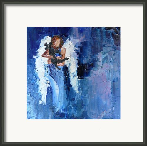 Dogs Need Angels Framed Print By Judy Mackey