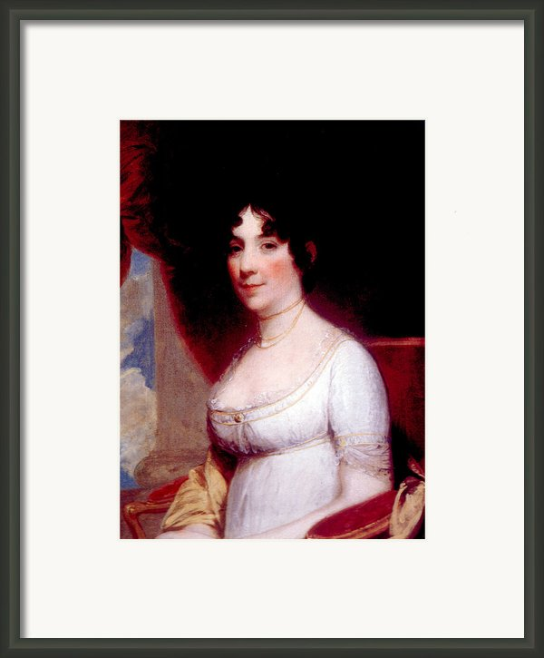 Dolley Madison 1768-1849, First Lady Framed Print By Everett