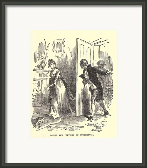 Dolley Madison Saving The Portrait Framed Print By Everett