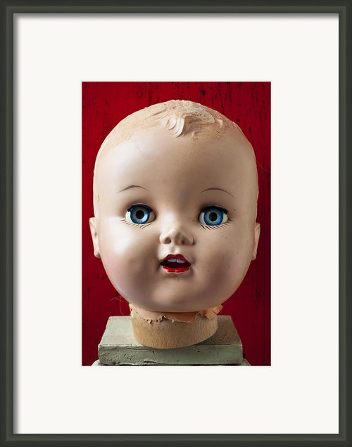 Dolls Haed Framed Print By Garry Gay