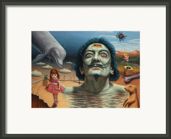 Dolly In Dali-land Framed Print By James W Johnson