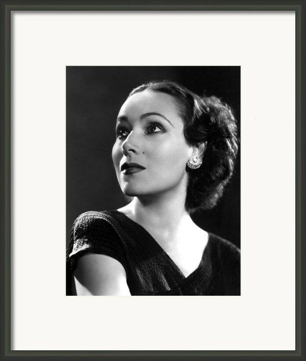 Dolores Del Rio, Ca. 1935 Framed Print By Everett