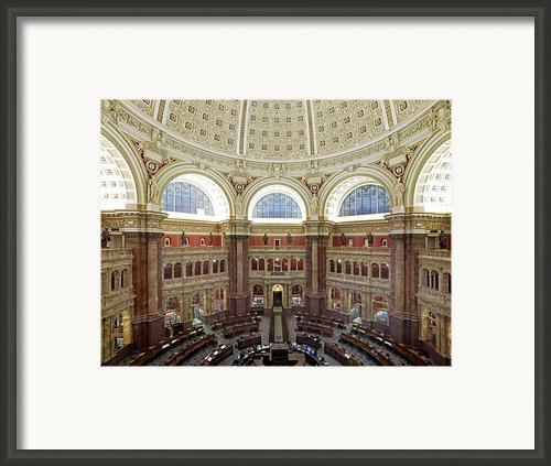 Domed Main Reading Room Framed Print By Everett