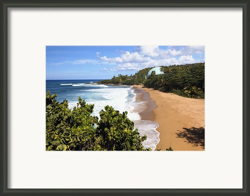 Domes Beach Rincon Puerto Rico Framed Print By George Oze
