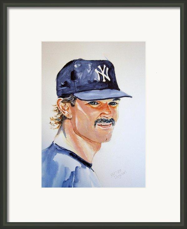 Don Mattingly Framed Print By Brian Degnon