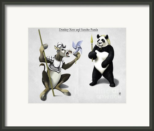 Donkey Xote And Sancho Panda Framed Print By Rob Snow