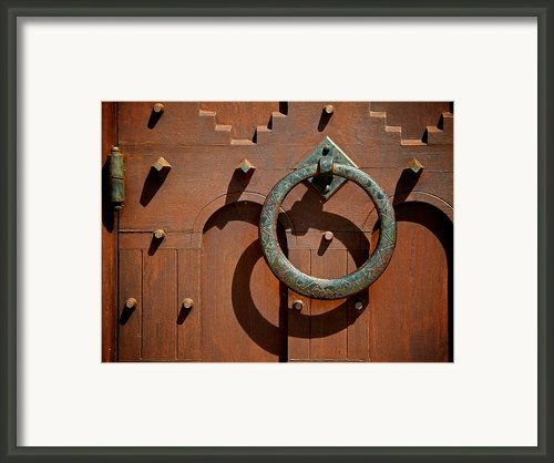 Door Detail Framed Print By Odd Jeppesen