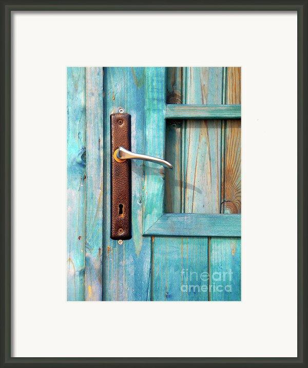 Door Handle Framed Print By Carlos Caetano