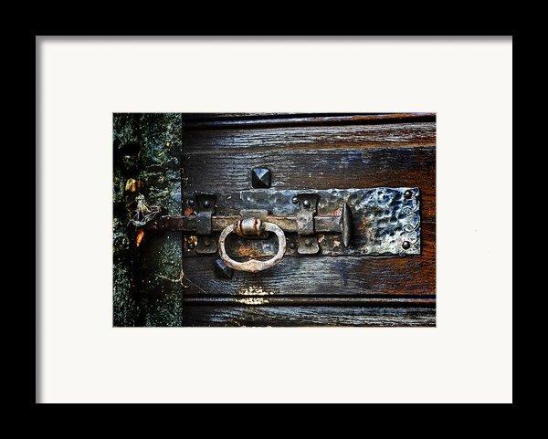 Door Latch Framed Print By Joana Kruse