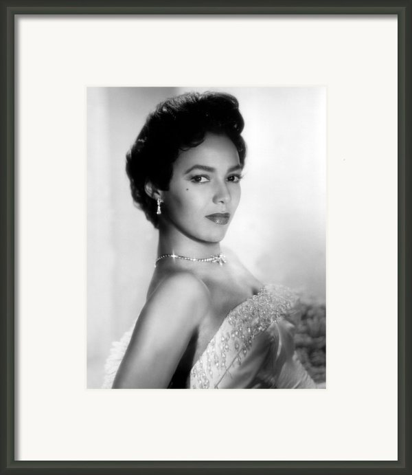 Dorothy Dandridge, No Date Framed Print By Everett