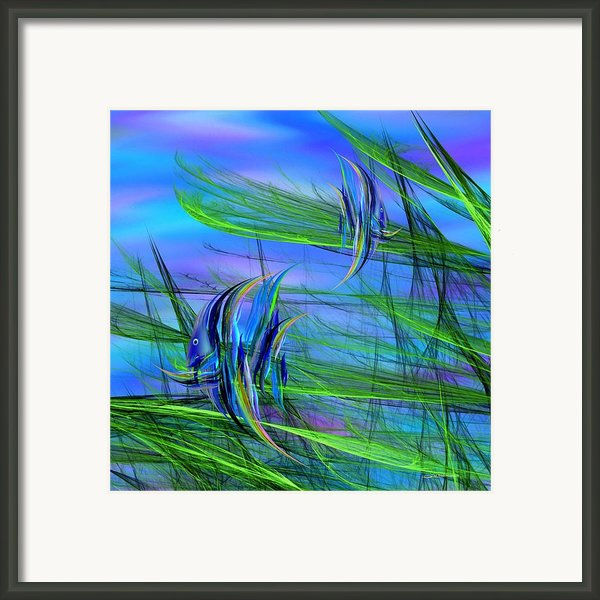 Dos Pescados En Salsa Verde Framed Print By Wally Boggus