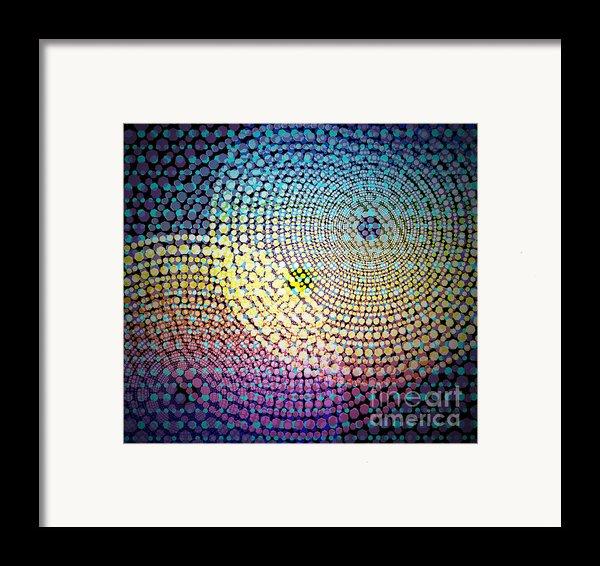 Dots Circles Framed Print By Atiketta Sangasaeng