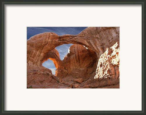 Double Arch In Late Afternoon Framed Print By Mike Mcglothlen