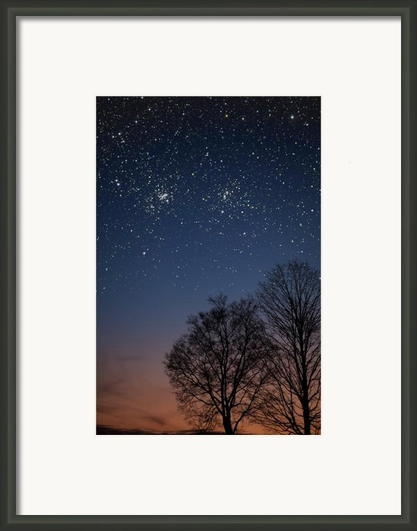 Double Cluster Sunset Framed Print By Charles Warren