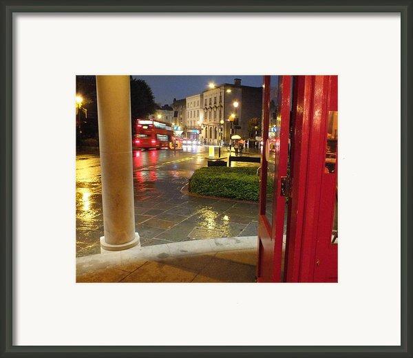 Double Decker Blur Ii Framed Print By Anna Villarreal Garbis