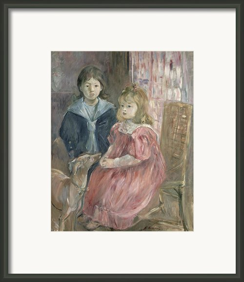 Double Portrait Of Charley And Jeannie Thomas Framed Print By Berthe Morisot