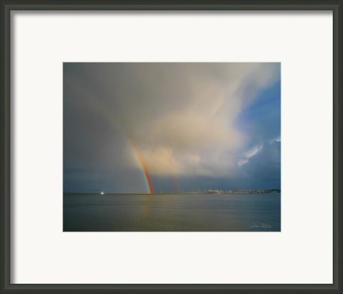 Double Rainbow Framed Print By Sabine Stetson