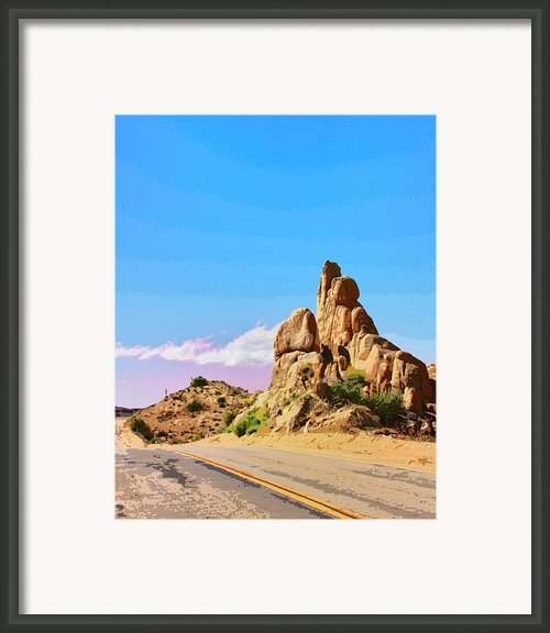 Double Yellow Framed Print By William Dey