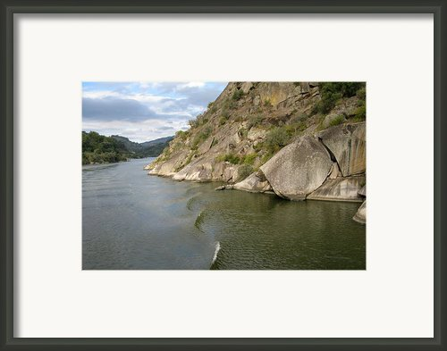 Douro Rock Formation Framed Print By Arlene Carmel