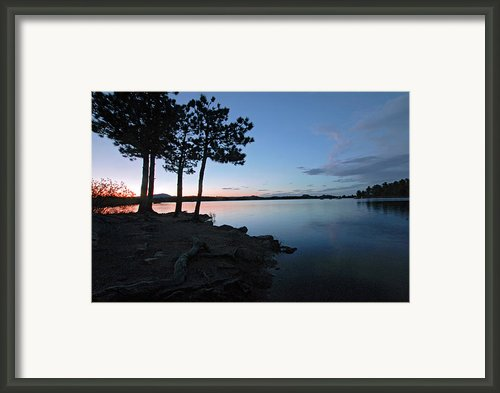 Dowdy Lake Silhouette Framed Print By James Steele