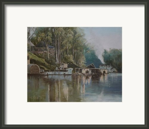 Down By The River Framed Print By Diko