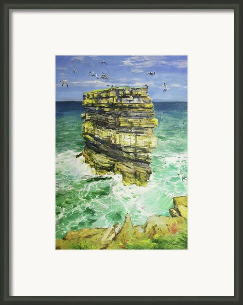 Downpatrick Head  Framed Print By Conor Mcguire