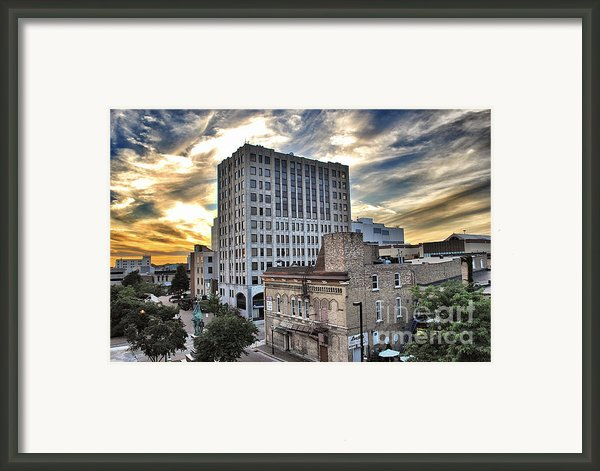 Downtown Appleton Skyline Framed Print By Shutter Happens Photography