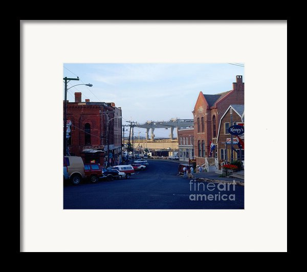 Downtown Eastport Maine Framed Print By Geri Harkin-tuckett