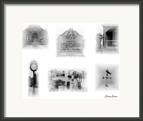 Downtown Elkton Framed Print By Lorraine Louwerse