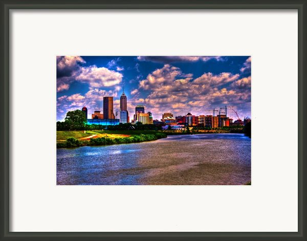 Downtown Indianapolis Skyline Framed Print By David Haskett