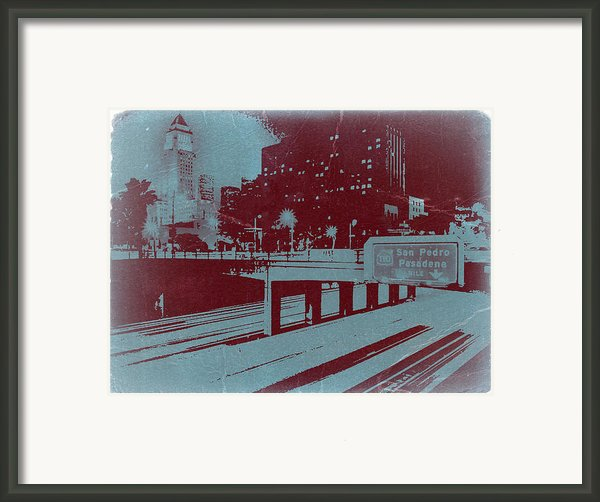 Downtown La Framed Print By Naxart Studio