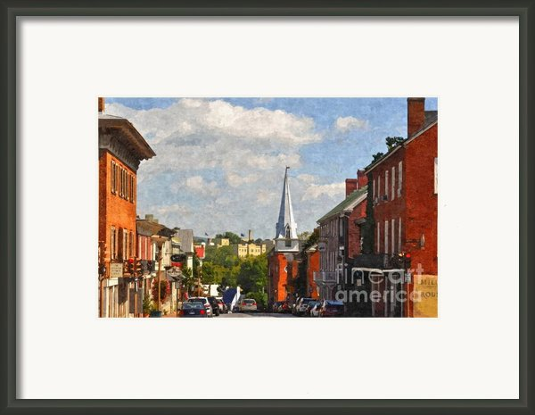 Downtown Lexington 3 Framed Print By Kathy Jennings