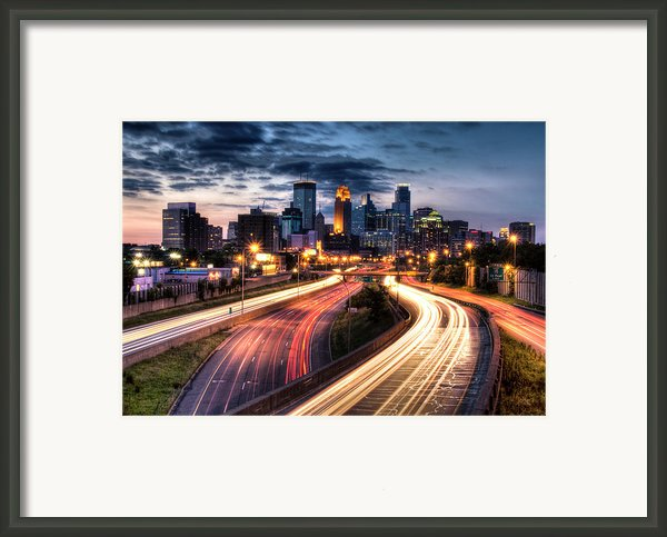 Downtown Minneapolis Skyscrapers Framed Print By Greg Benz