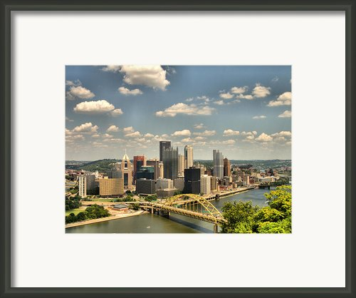 Downtown Pittsburgh Hdr Framed Print By Arthur Herold Jr