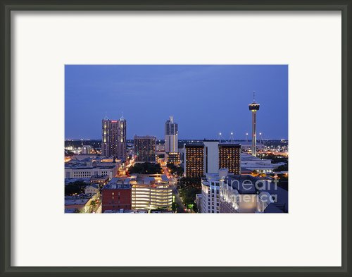 Downtown San Antonio At Night Framed Print By Jeremy Woodhouse