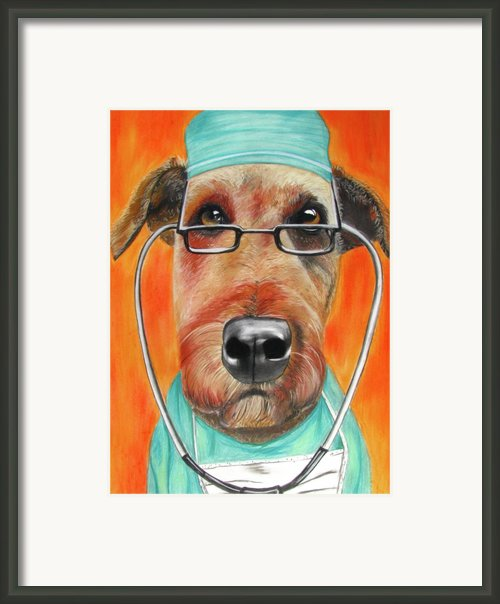 Dr. Dog Framed Print By Michelle Hayden-marsan