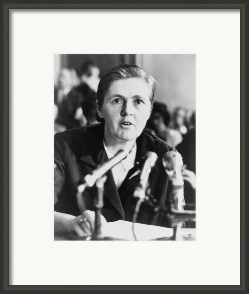 Dr. Frances O. Kelsey, A Food & Drug Framed Print By Everett