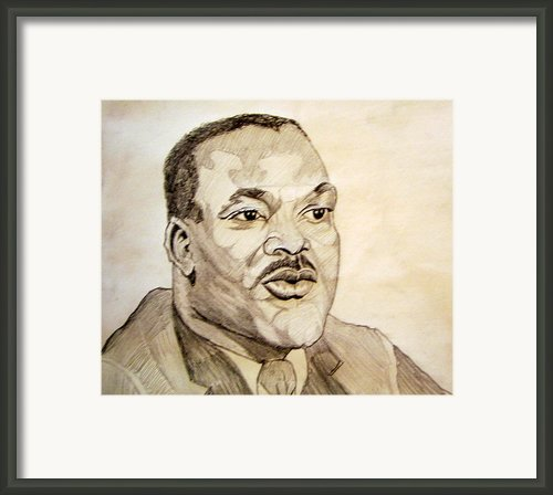 Dr. Martin Luther King Jr. Framed Print By Donald William