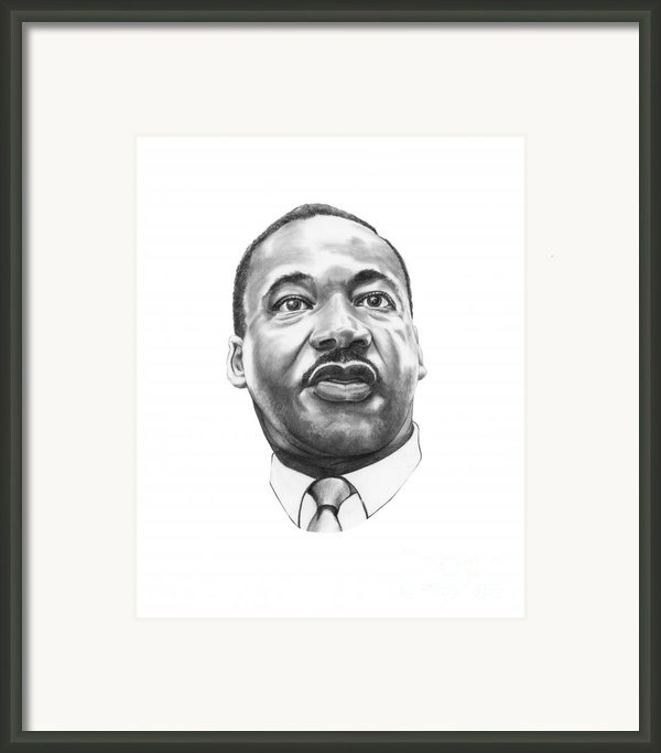 Dr. Martin Luther King Framed Print By Murphy Elliott