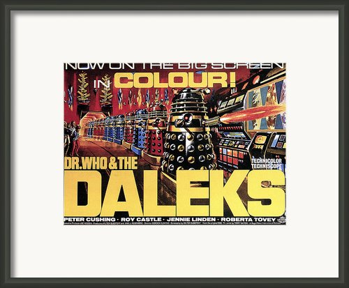 Dr. Who And The Daleks, Poster, 1965 Framed Print By Everett