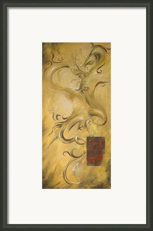 Dragon Double Happiness Framed Print By Dina Dargo