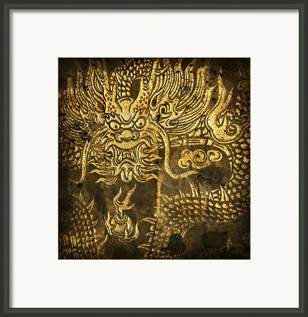 Dragon Pattern Framed Print By Setsiri Silapasuwanchai